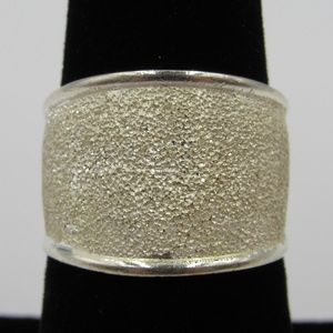 Vintage Size 7 Sterling Rustic Textured Ring